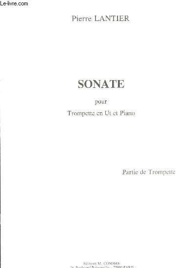 Sonate pour Trompette en Ut et Piano. Partie Trompette.