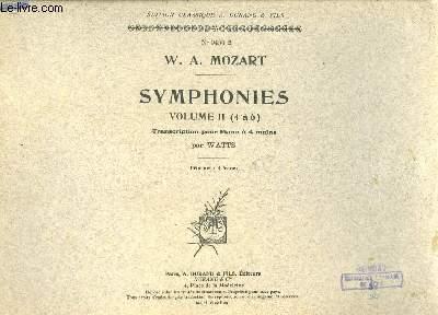 Symphonies. Volume II (4 à 6). Transcriptions pour Piano à 4 mains, par Watts.