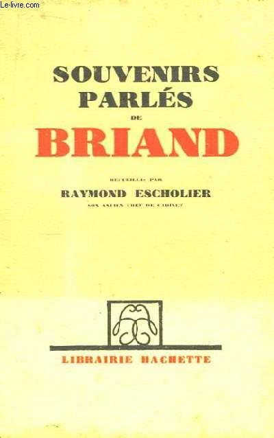 Souvenirs parlés de Briand