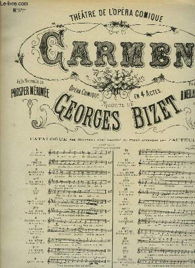 Carmen. N°5 bis. Seguedille. Partitions Piano - Chant