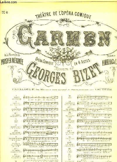 Carmen n°6 : Chanson Bohème. Chant et Piano