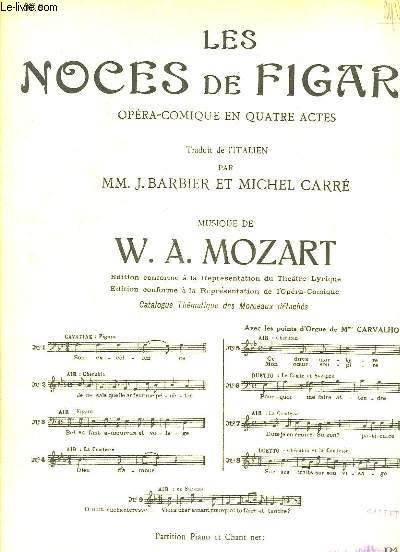 Les Noces de Figaro n°9 : Air de Suzanne. Partition Chant et Piano