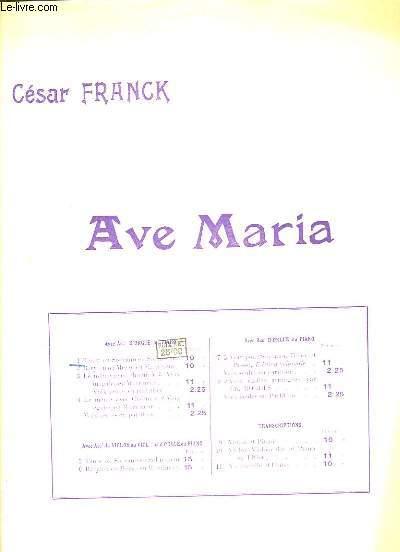 Ave Maria N°1. Pour Ténor ou Soprano (en Sol mineur), et Orgue.