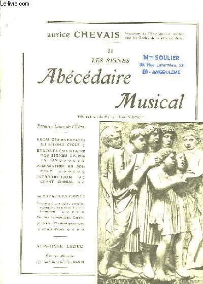 Abécédaire Musical TOME II : Les Signes.