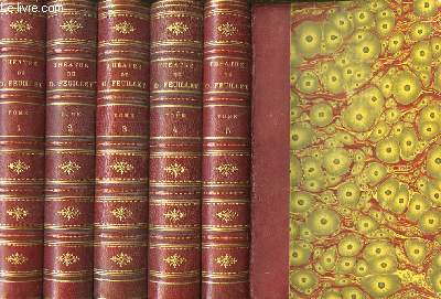 Théâtre Complet de Octave Feuillet. En 5 volumes.