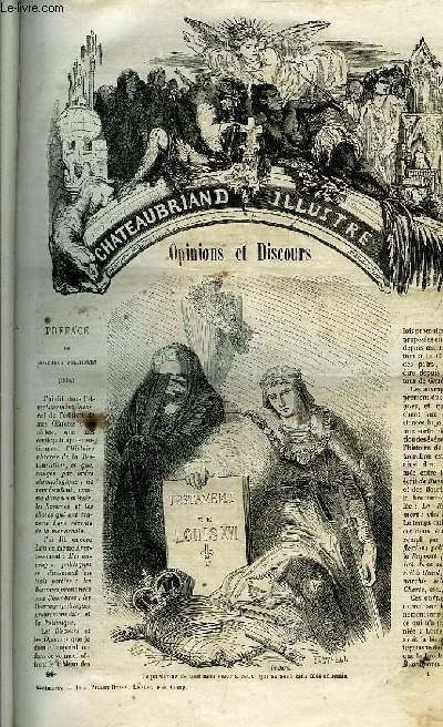 Oeuvres Illustrées de Chateaubriand. TOME 6 : Opinions et Discours. Polémique. Révolutions anciennes. Mélanges Littéraires.