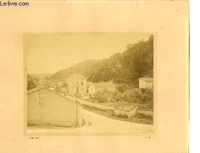 Photographie originale ancienne, albuminée du Village de Saint-Mihiem (Lorraine)