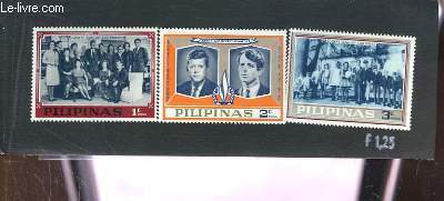 Collection de 3 timbres-poste neufs, des Philippines (Pilipanas). Joseph Kennedy and Family, John F. and Robert Kennedy.