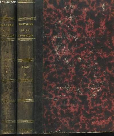 Histoire de la Révolution de Février 1848, du Gouvernement Provisoire et de la République. En 2 volumes.