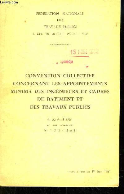 Convention Collective Concernant Les Appointements Minima Des