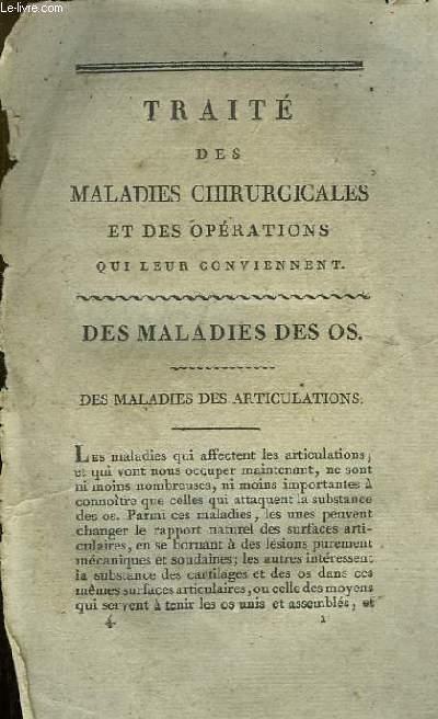 Traité des Maladies Chirurgicales et des Opérations qui leur conviennent (Incomplet)