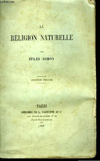 La Religion Naturelle.
