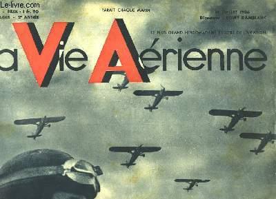 La Vie Aérienne. N°41 - 2ème année : Gloire à notre Armée de l'Air - Le Touquet 1936