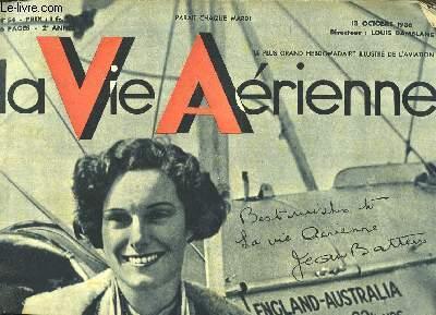 La Vie Aérienne. N°54 - 2ème année : Joan Batten vole en un temps record d'Angleterre aux antipodes. Le Clubma Ridray emporte la Coupe Georges Dreyfus. Précisions sur l'Aviation civile et militaire.