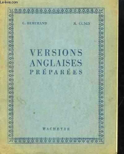 Versions anglaises préparées.