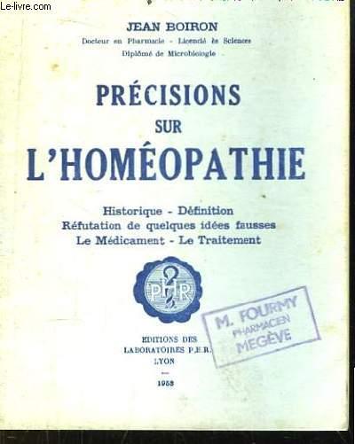Précisions sur l'Homépathie