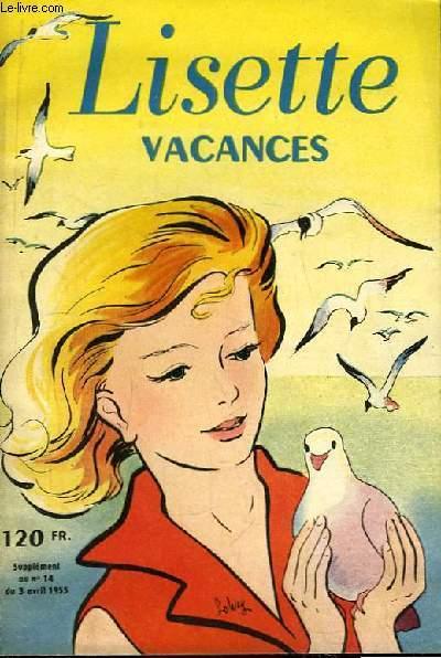 Lisette Vacances. Supplément au n°14 du 3 avril 1935