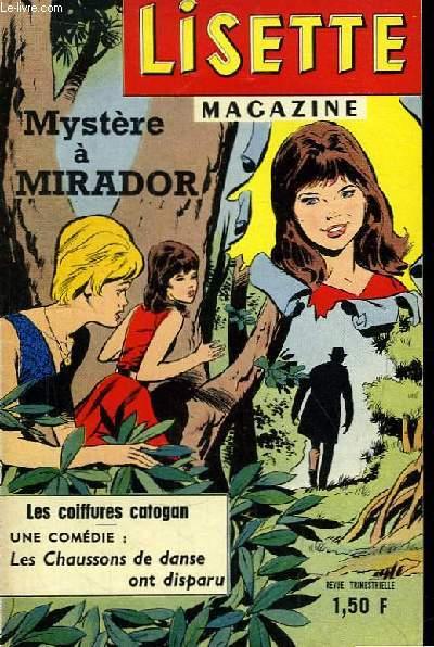 Lisette Magazine N°XXX : Mystère à Mirador. Les coiffures catogan.
