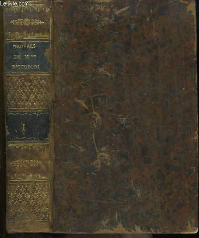 Oeuvres Complètes de Mme Riccoboni. TOME 1er : Histoire du Marquis de Cressy - Histoire de Miss Jenny - Histoire d'Ernestine - Suite de Marianne.