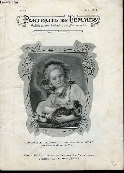 Portraits de Femmes N°42 : Mademoiselle de Choiseul, Comtesse de Gramont