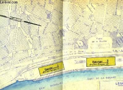 Plan dépliant des Quais de la Garonne à Bordeaux, Rive gauche. (Quai Richelieu aux Ateliers Bacalan)