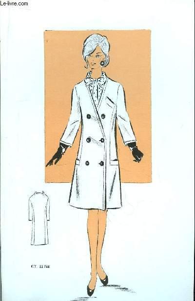 Lot de 21 planches de gravures de modes. Tailleurs, Manteau de femmes.