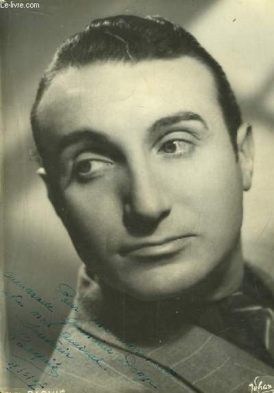 Photographie de Henri Baquié, dédicacée.