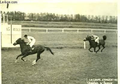 Photographie originale de la Coupe d'Argent 1951 : Chatelain et Passaroso.