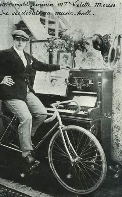 Photographie de l'Athlète complet féminin Mme Violette Moriss, faisant ses dabuts au Music-Hall.