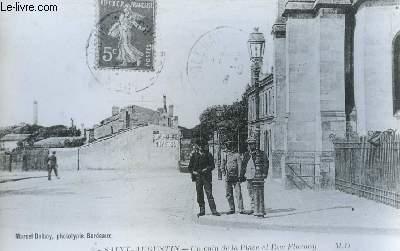 Une carte postale reproduite en phototypie, de Saint-Augustin - Un coin de la Place et Rue Flornoy.