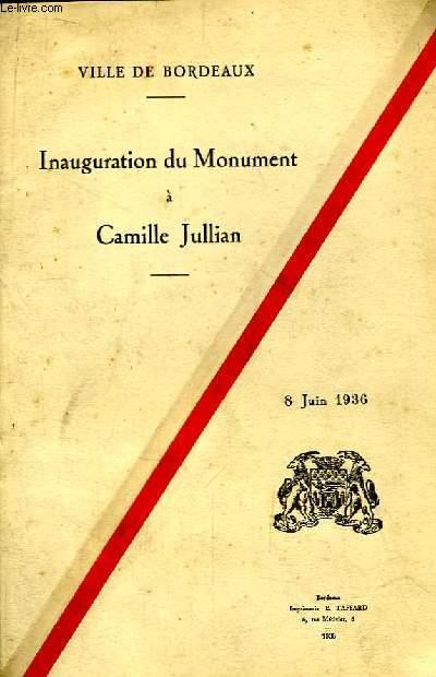 Inauguration du Monument à Camille Jullian. 8 juin 1936