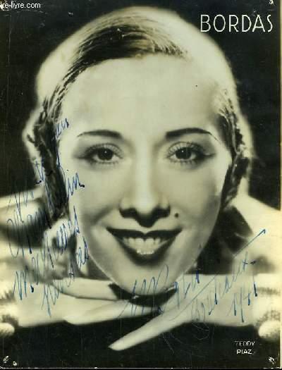 Photographie en noir et blanc, autographée par Marcelle Bordas