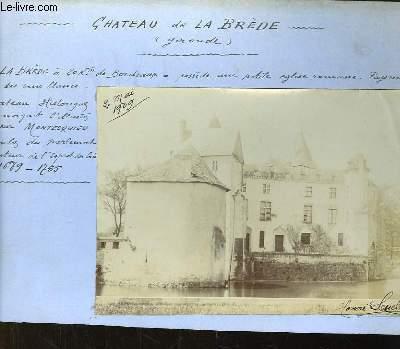 Photographie originale du Château de La Brède.