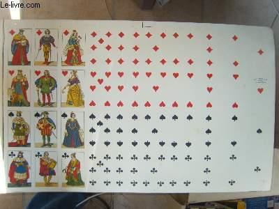 Une planche de 40 cartes de jeux
