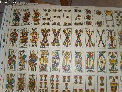 Une planche de 48 cartes de jeux, ( Tarot ? )