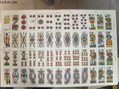 Une planche de 52 cartes de jeux ( Tarot ? )