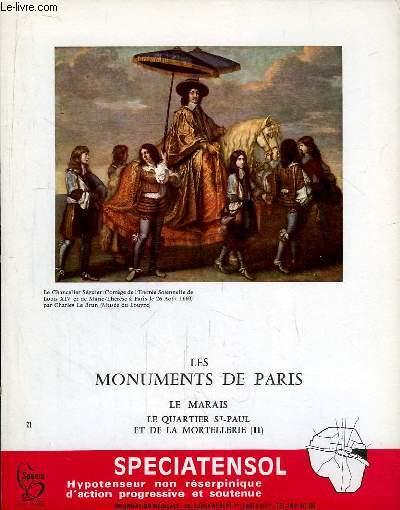 Les Monuments de Paris N°21 : Le Marais, le Quartier Saint-Paul et de La Mortellerie, 2e partie.