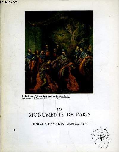 Les Monuments de Paris N°30 : Le Quartier Saint-André-des-Arcs, 1e partie.