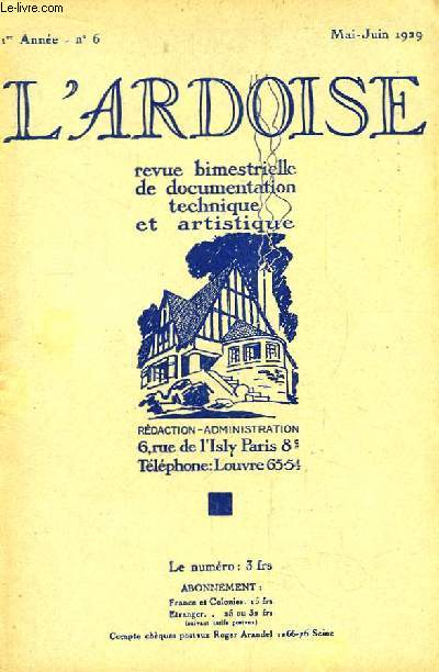 L'Ardoise N°6 - 1ère année : Arsène Brandilly - Deux principes de construction Toit ou Terrasse ...
