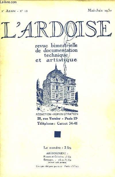 L'Ardoise N°12 - 2ème année : L'Âge du Mécanisme - Revêtements de murs - L'Ardoise à la Foire de Paris.