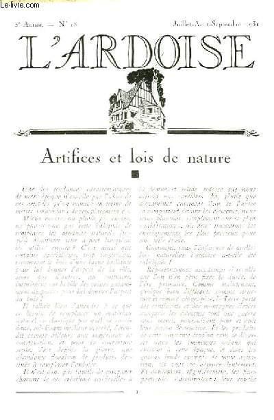 L'Ardoise N°18 - 3ème année : Les modèles anglais - La noue à un tranchis dite demi-ronde - A propos du Fibro-Ciment ...