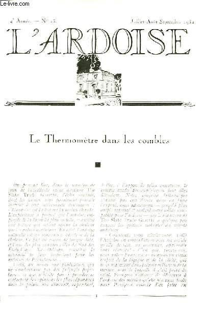 L'Ardoise N°23 - 4ème année : Le Thermomètre dans les combles - Les Modèles Carrés dans la construction économique - L'Ardoise et le style ...