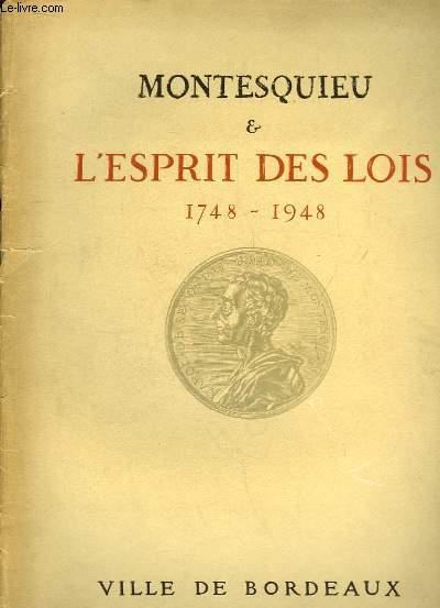 Montesquieu & l'Esprit des Lois. 1748 - 1948