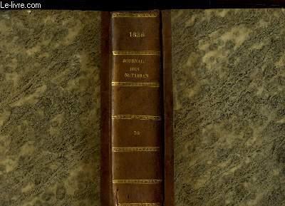 Journal des Notaires et des Avocats. TOMES 34 et 35 - Année 1828