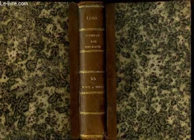 Journal des Notaires et des Avocats. TOMES 58 et 59 - Année 1840 : Art. 10562 à 10851