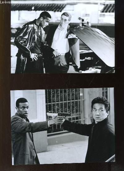5 Photographies d'exploitation, tir�es du film Rush Hour, avec Jackie Chan et Chris Tucker. Film de Brett Ratner.