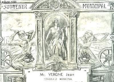 Souvenir Municipal délivré à un conseiller municipal, Mr V., d'Antagnac