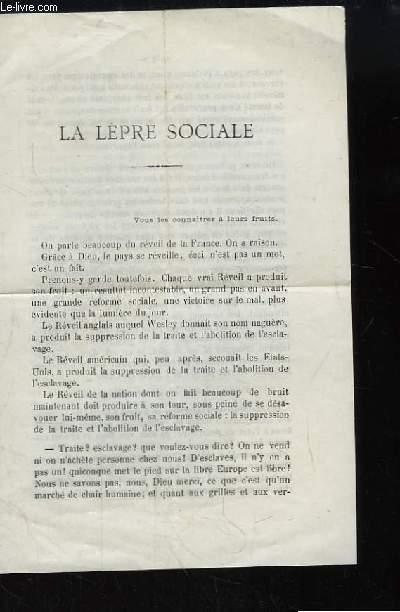 La Lèpre Sociale.