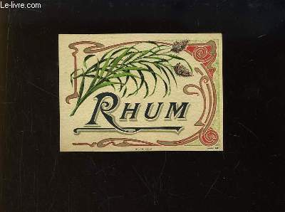 1 Etiquette d'une bouteille de Rhum. N°674