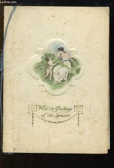 Carte de Voeux anglaise 1920 - 1921,